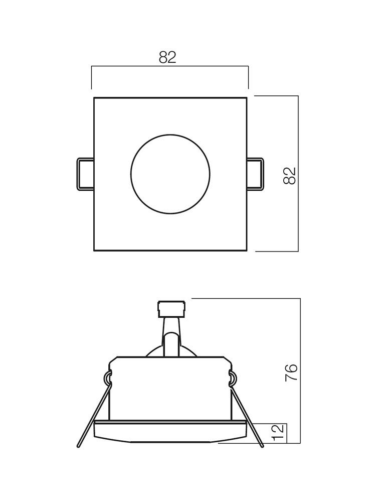 Redo ELC 1104 70127 modern beépíthető spot lámpa / Redo / lámpák
