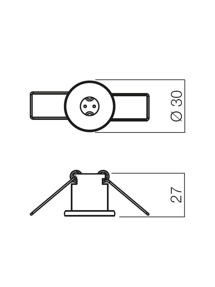 Redo ELC 127 CH 70141 modern beépíthető spot lámpa / Redo / lámpák