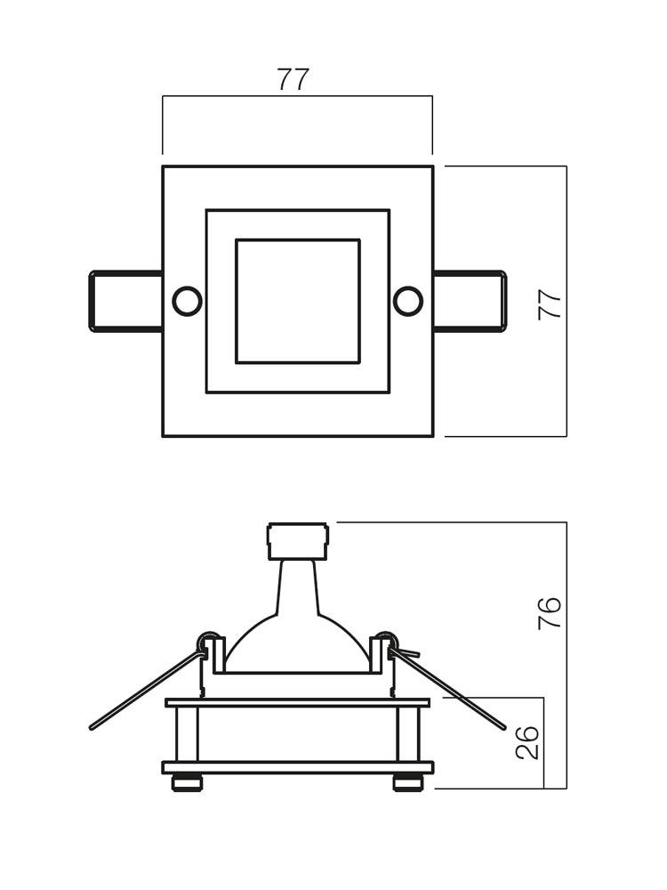 Redo ELC 144+C3 70106 modern beépíthető spot lámpa / Redo / lámpák