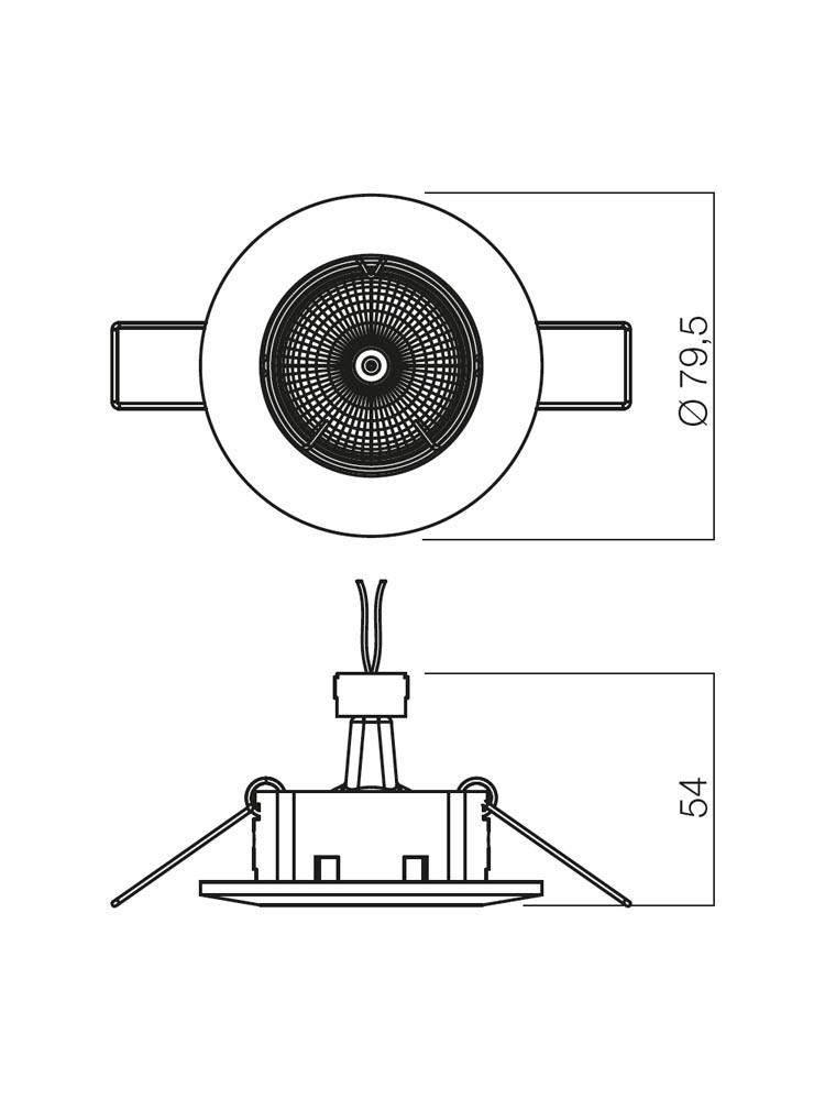 Redo ELC 146 PG/S 70012 modern beépíthető spot lámpa / Redo / lámpák
