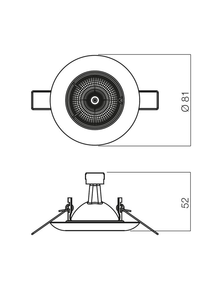 Redo ELC 307 PB 70149 modern beépíthető spot lámpa / Redo / lámpák