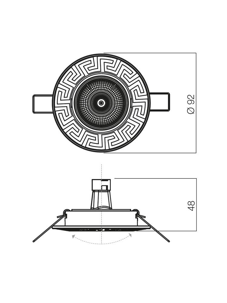 Redo ELC 329 CH/PC 70096 modern beépíthető spot lámpa / Redo / lámpák