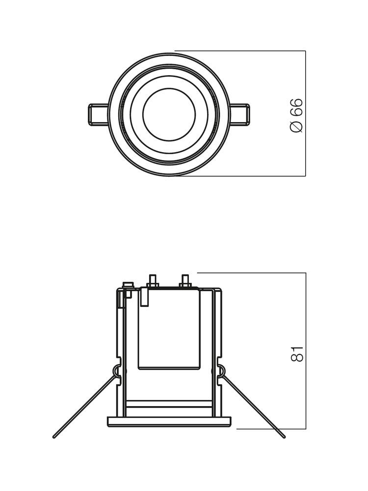 Redo FR 39 RAB 70219 modern beépíthető spot lámpa / Redo / lámpák
