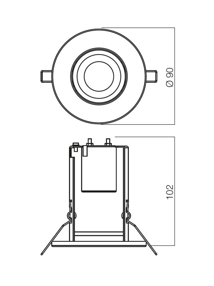 Redo FR 50 PB 70050 modern beépíthető spot lámpa / Redo / lámpák