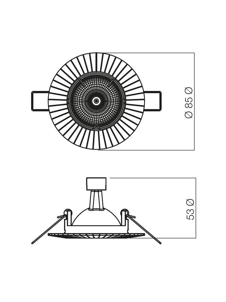 Redo MT 101 PB 70195 modern beépíthető spot lámpa / Redo / lámpák