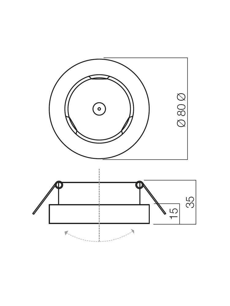 Redo MT 110 70280 modern beépíthető spot lámpa / Redo / lámpák