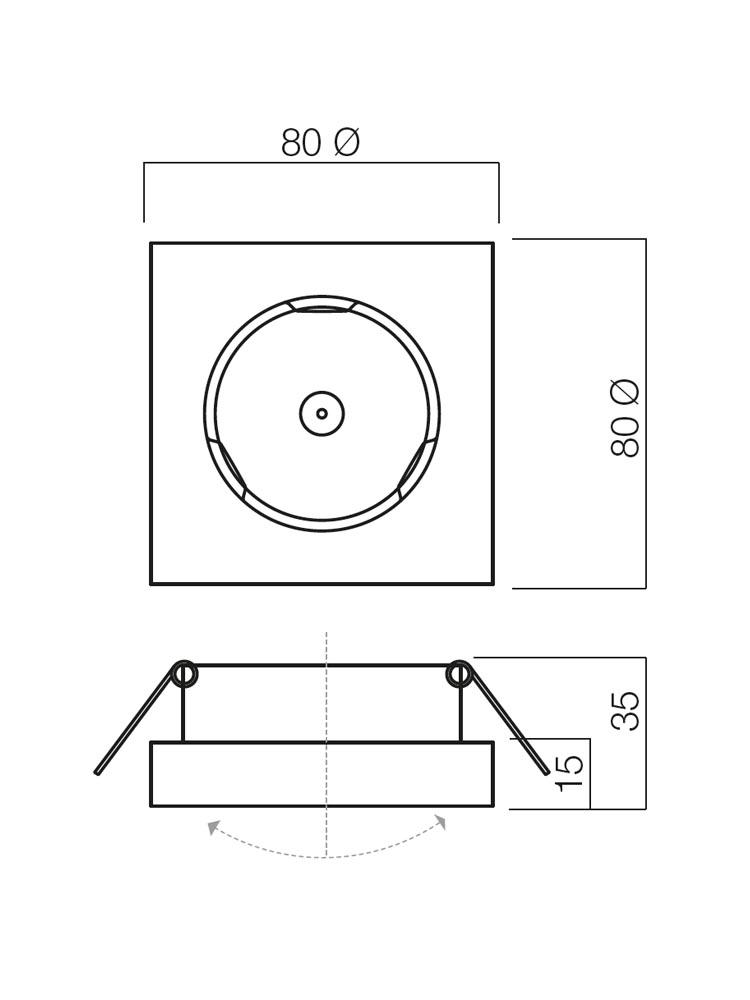 Redo MT 111 70282 modern beépíthető spot lámpa / Redo / lámpák