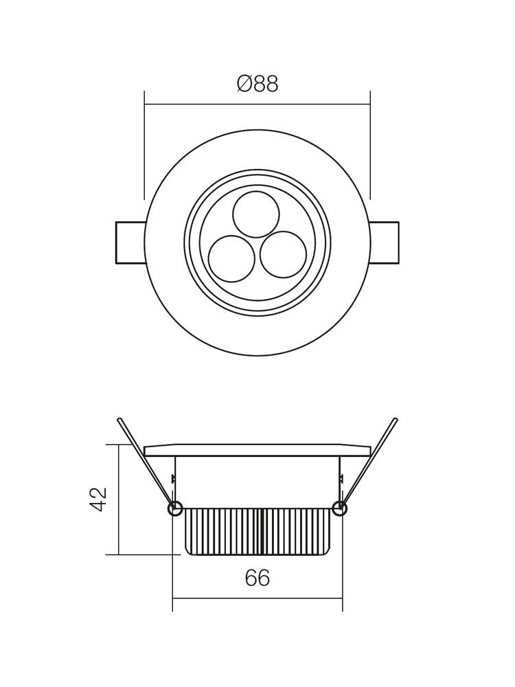 Redo MT.115 70316 modern beépíthető spot lámpa / Redo / lámpák
