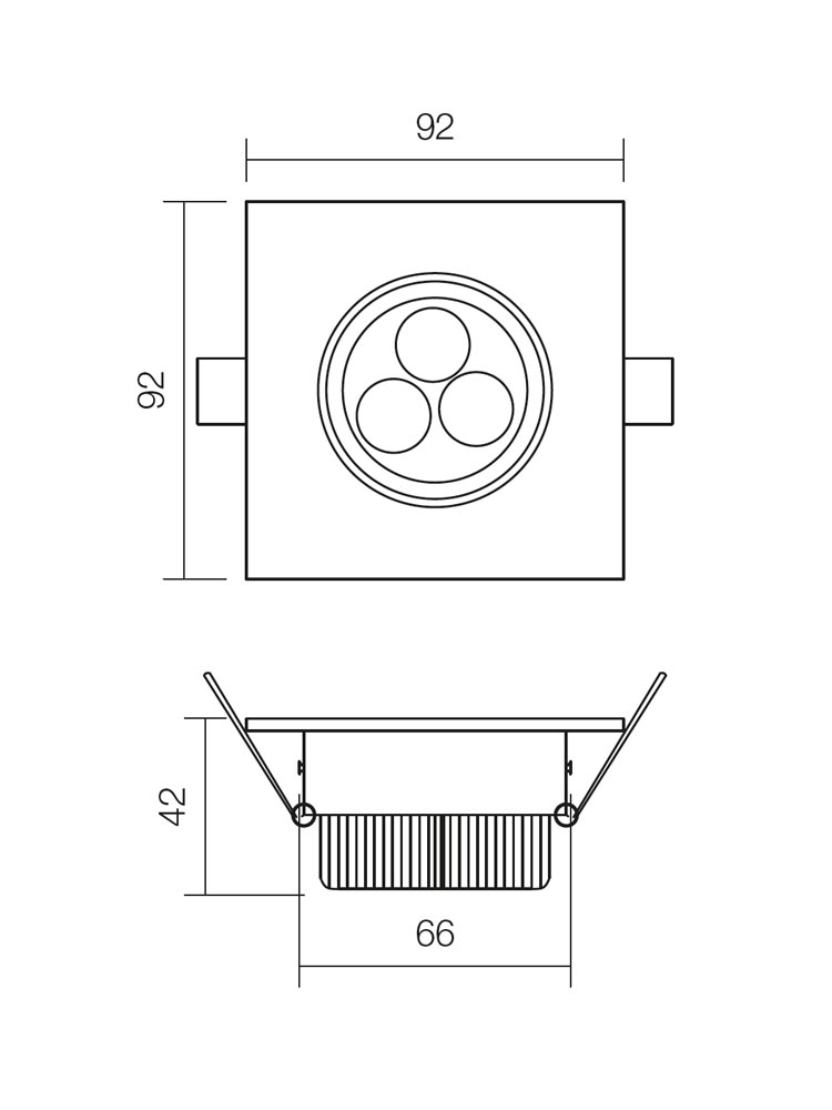 Redo MT.116 70319 modern beépíthető spot lámpa / Redo / lámpák