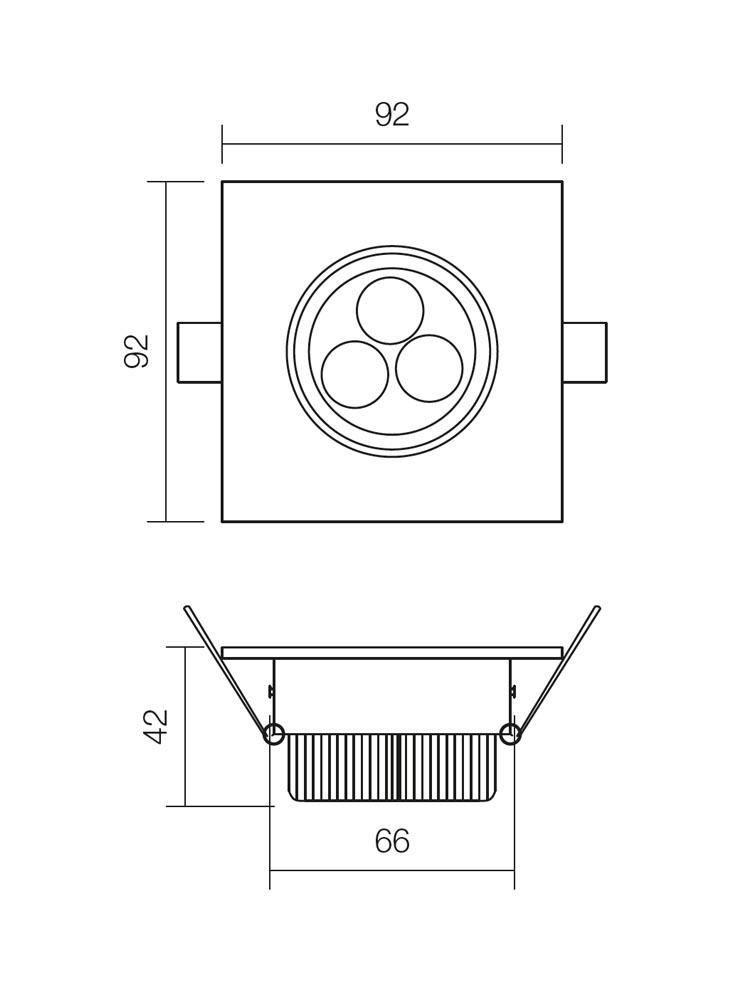 Redo MT.116 70318 modern beépíthető spot lámpa / Redo / lámpák