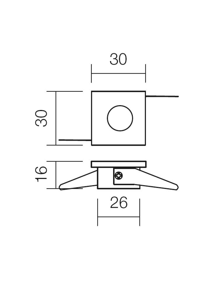Redo MT.117 70323 modern beépíthető spot lámpa / Redo / lámpák