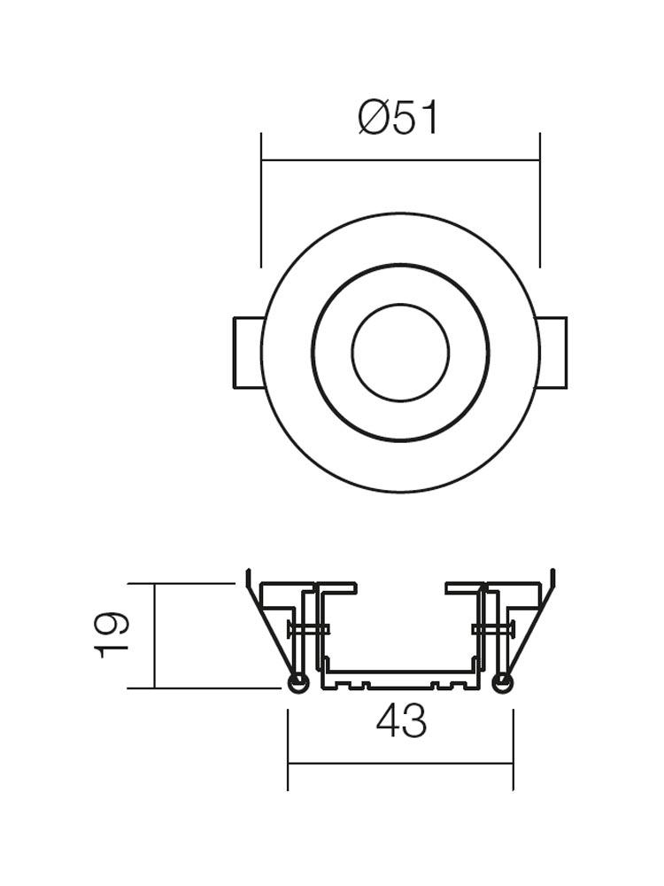 Redo MT.119 70325 modern beépíthető spot lámpa / Redo / lámpák