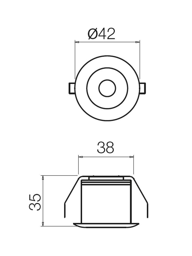 Redo MT124 LED 70359 modern beépíthető spot lámpa / Redo / lámpák