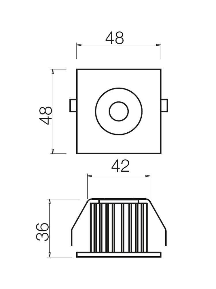 Redo MT127 LED 70362 modern beépíthető spot lámpa / Redo / lámpák