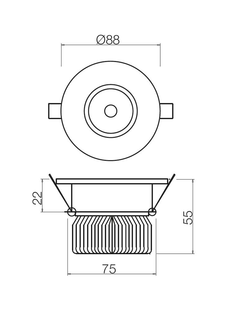 Redo MT128 LED 70364 modern beépíthető spot lámpa / Redo / lámpák