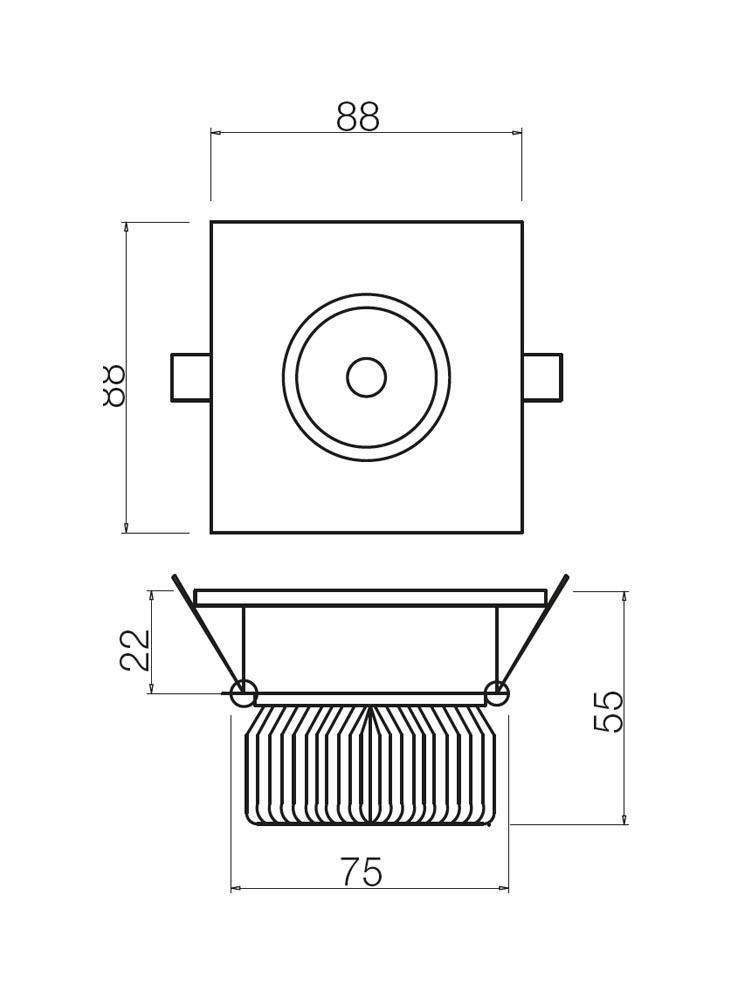 Redo MT129 LED 70365 modern beépíthető spot lámpa / Redo / lámpák