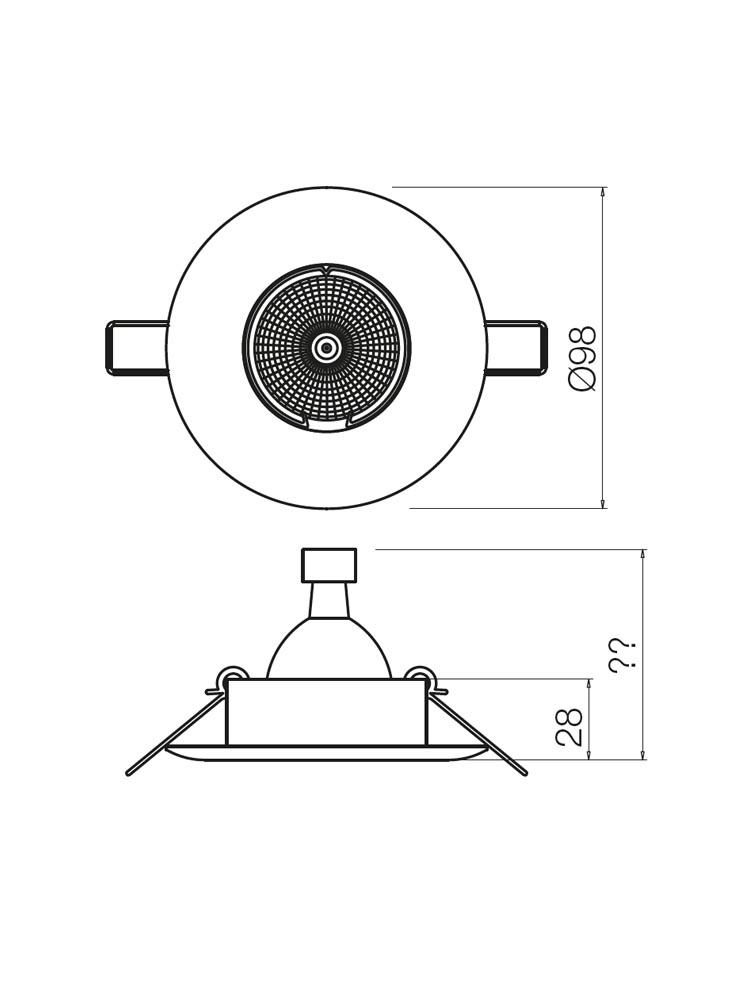 Redo MT131 70291 modern beépíthető spot lámpa / Redo / lámpák