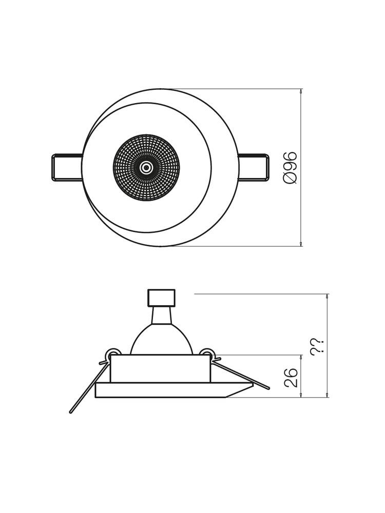 Redo MT134 70297 modern beépíthető spot lámpa / Redo / lámpák