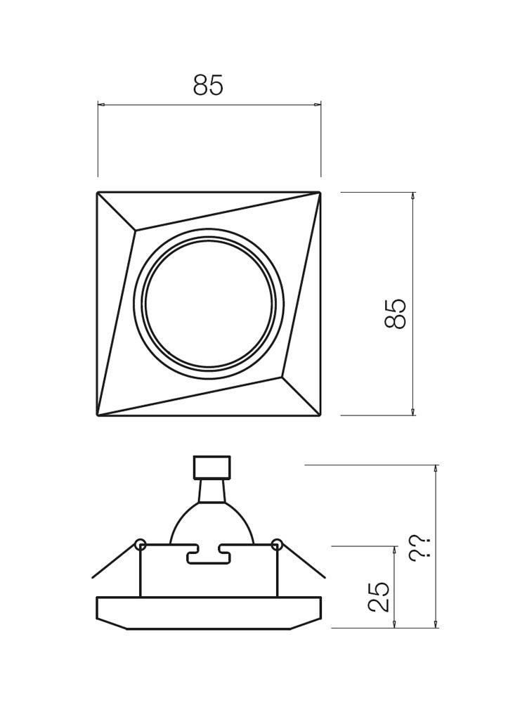 Redo MT133 70295 modern beépíthető spot lámpa / Redo / lámpák