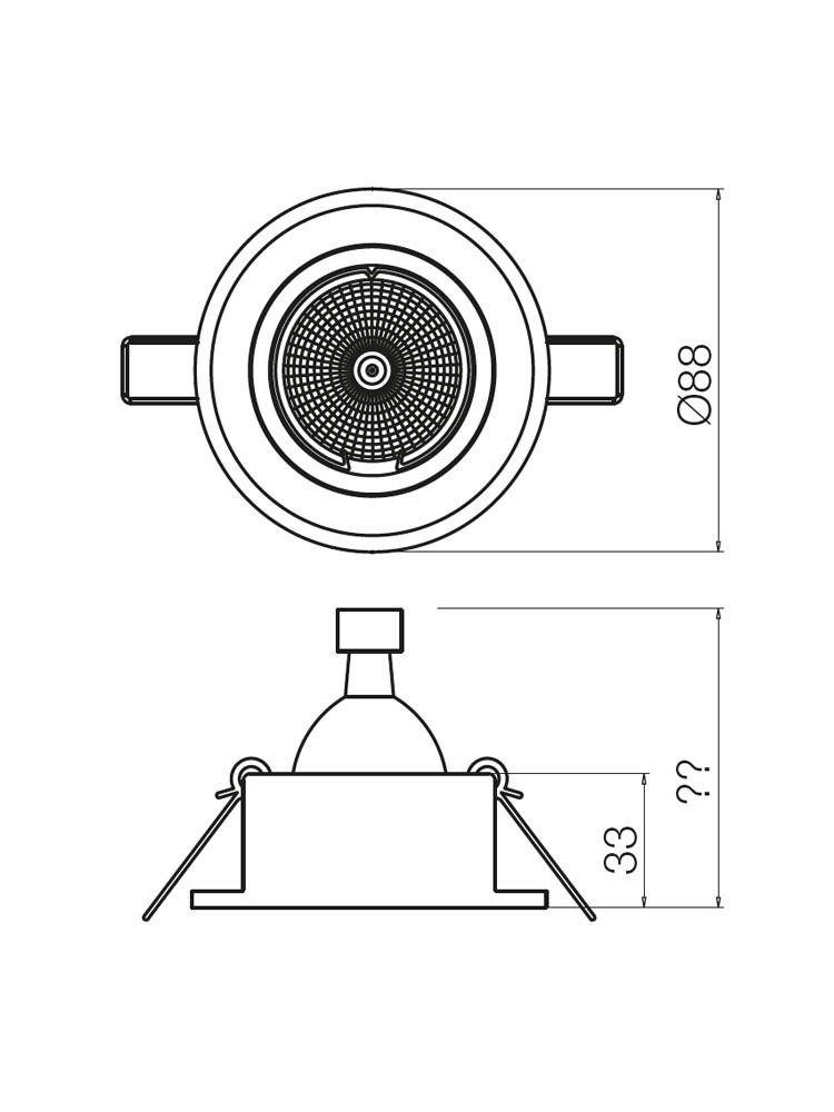 Redo MT136 70299 modern beépíthető spot lámpa / Redo / lámpák