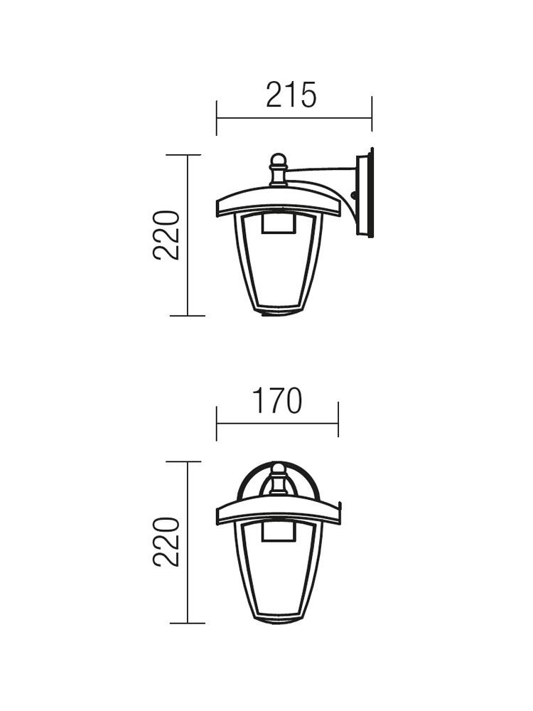 Redo EDMOND 9155 modern kültéri fali lámpa / Redo / lámpák