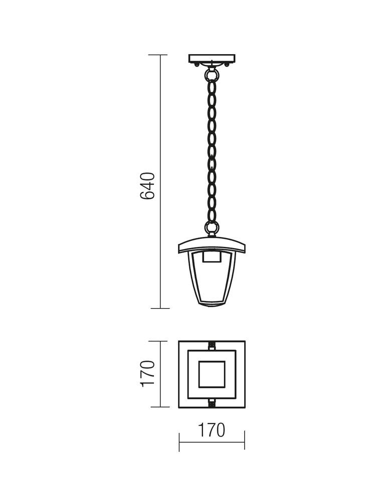 Redo EDMOND 9156 modern kültéri függeszték  / Redo / lámpák