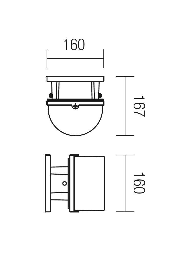 Redo MARANO 9820 modern kültéri fali lámpa / Redo / lámpák