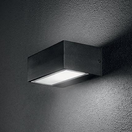 Idea Lux 115375 Twin AP1 Nero kültéri fali lámpa
