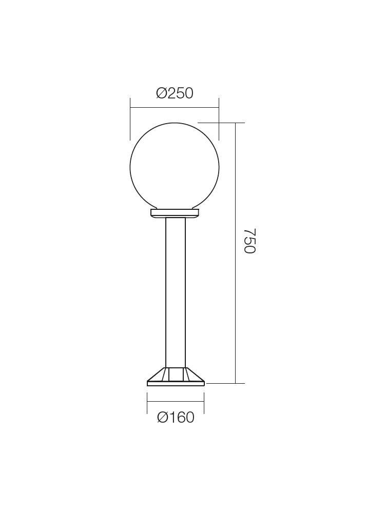 Redo SFERA 9780 modern kültéri állólámpa / Redo / lámpák