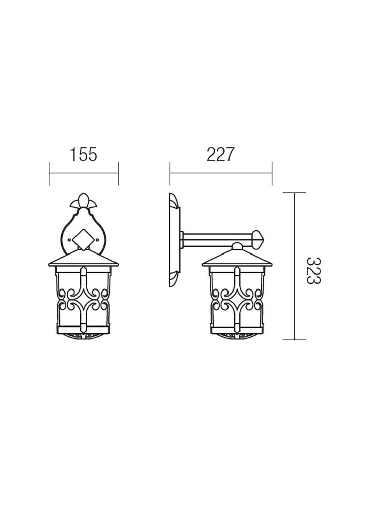 Redo TIROL 9260 klasszikus kültéri fali kar / Redo / lámpák