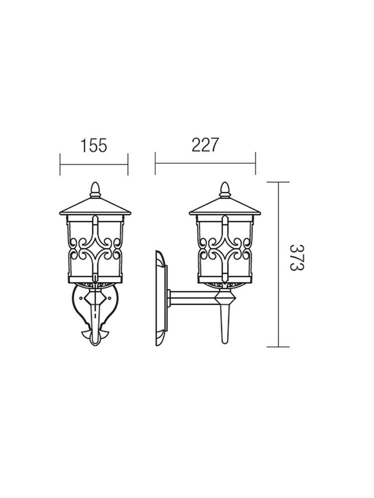 Redo TIROL 9259 klasszikus kültéri fali kar / Redo / lámpák