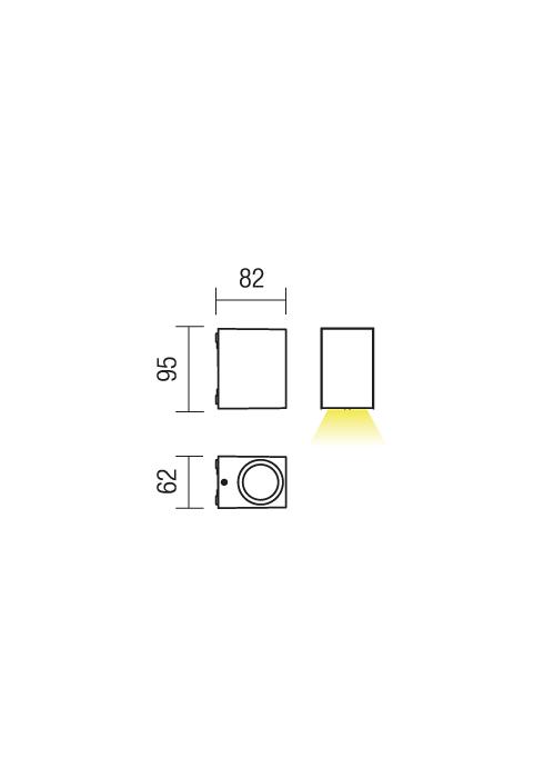Redo Beam 9907 kültéri modern fali lámpa / Redo / lámpák