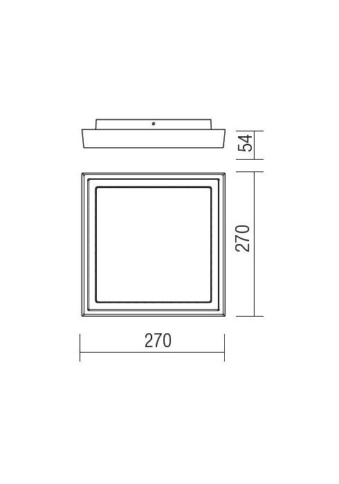 Redo BEZEL 9188 modern kültéri mennyezeti lámpa / Redo / lámpák