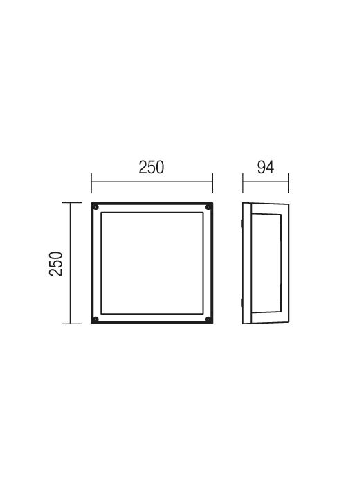 Redo Brick 9893 modern kültéri mennyezeti lámpa / Redo / lámpák