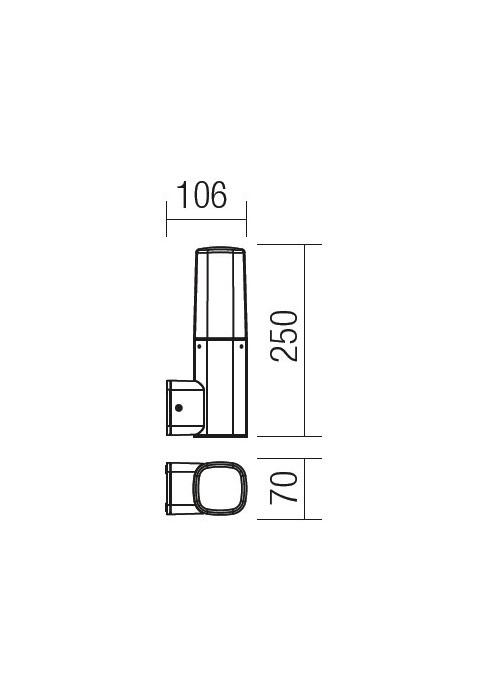 Redo CRAYON 9074 modern kültéri fali lámpa / Redo / lámpák