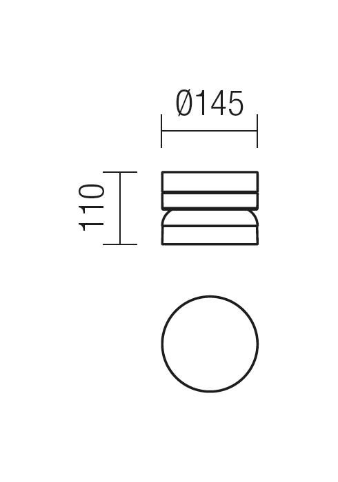 Redo CYCLO 9684 modern kültéri fali, mennyezeti lámpa / Redo / lámpák