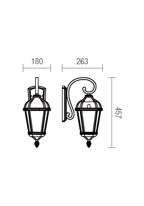 Redo Essen 9667 klasszikus kültéri fali kar / Redo / lámpák