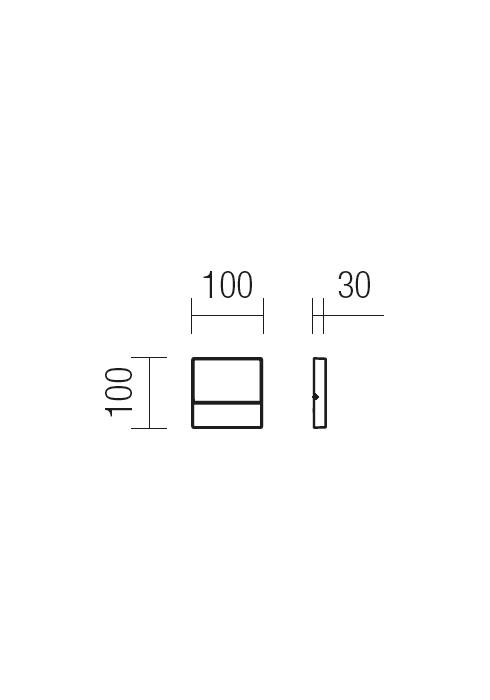 Redo EVEN 9150 modern kültéri fali lámpa / Redo / lámpák