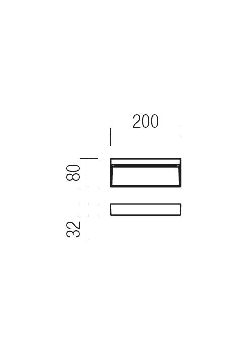 Redo EVEN 9153 modern kültéri fali lámpa / Redo / lámpák
