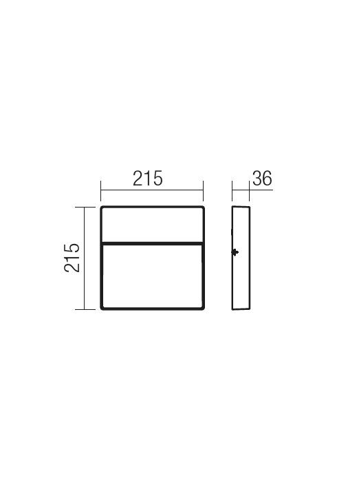 Redo EVEN 9627 modern kültéri fali lámpa / Redo / lámpák