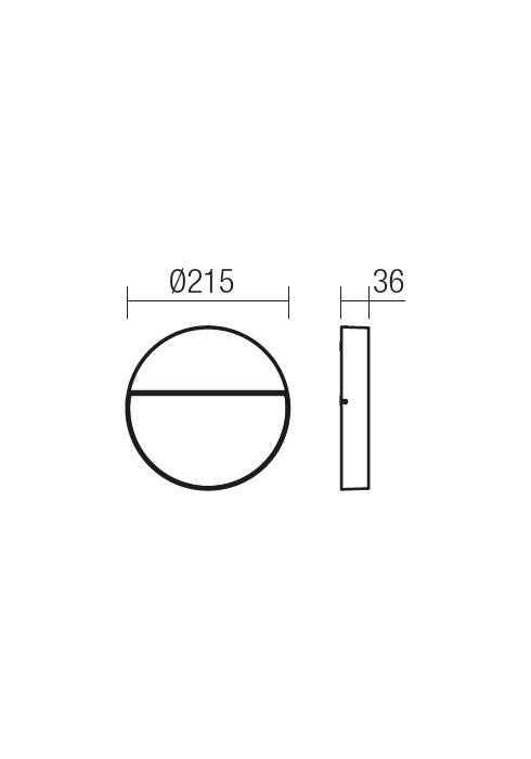 Redo EVEN 9624 modern kültéri fali lámpa / Redo / lámpák
