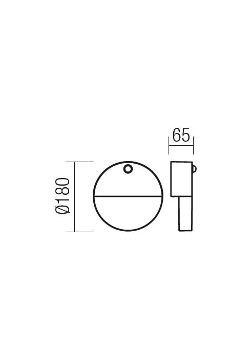 Redo FACE 9162 modern kültéri fali lámpa / Redo / lámpák