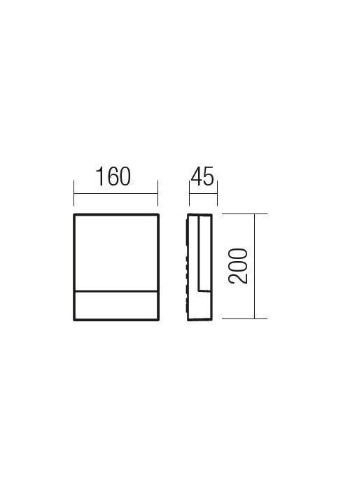 Redo FACE 9163 modern kültéri fali lámpa / Redo / lámpák