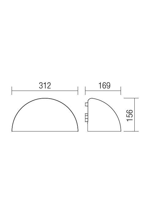 Redo HOOD 9194 modern kültéri fali lámpa / Redo / lámpák