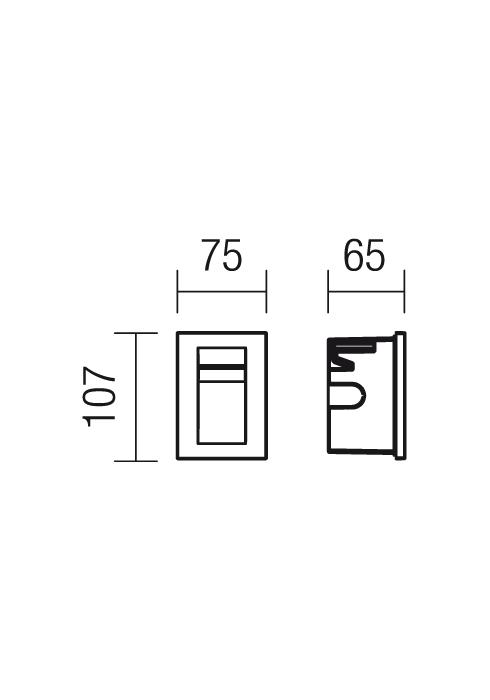 Redo Inner 9637 beépíthető kültéri lámpa / Redo / lámpák