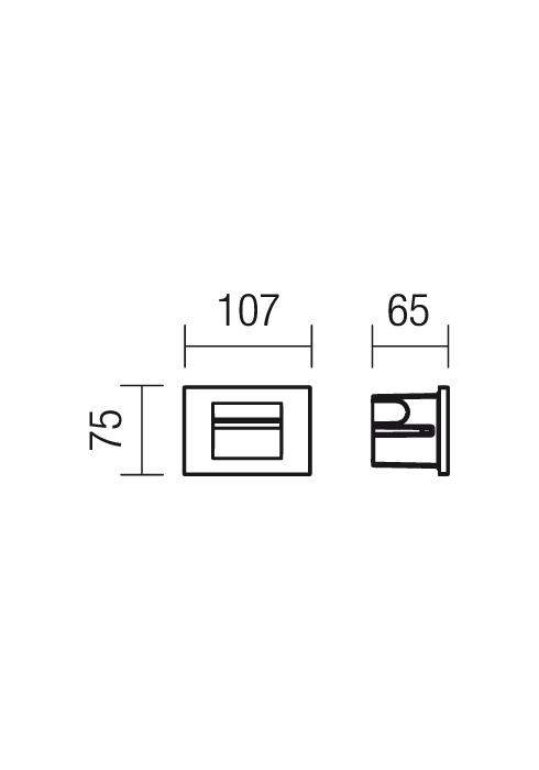 Redo Inner 9635 beépíthető kültéri lámpa / Redo / lámpák