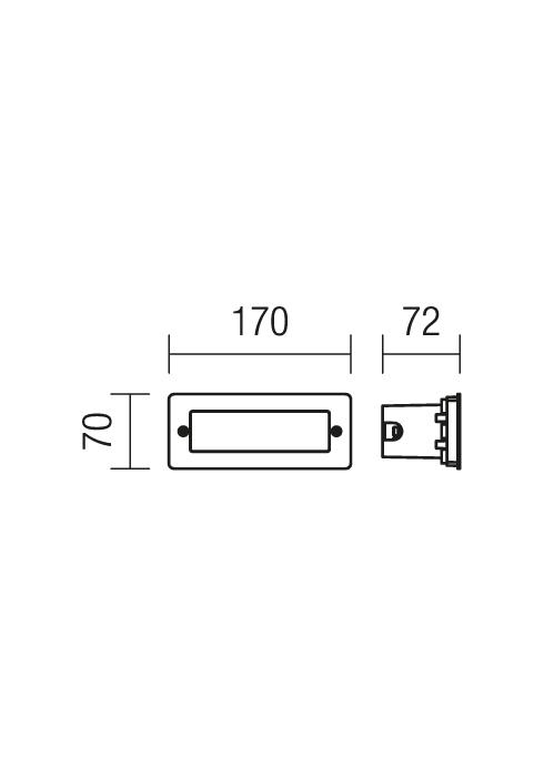 Redo PANO 9639 beépíthető kültéri fali lámpa / Redo / lámpák