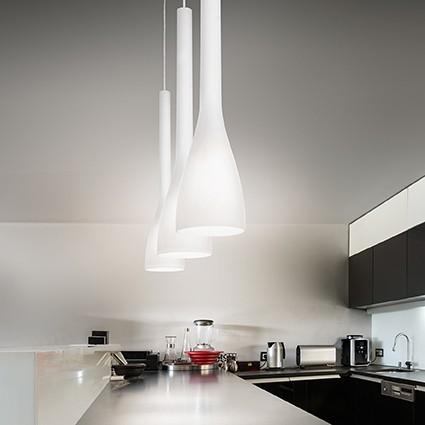 Ideal Lux 035697 Flut SP1 Small Bianco lámpa függeszték