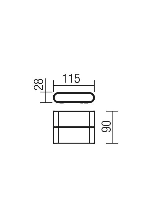 Redo POCKET 9620 kültéri modern fali lámpa / Redo / lámpák