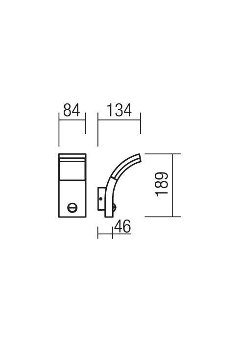Redo Slider 9715 modern kültéri fali lámpa / Redo / lámpák